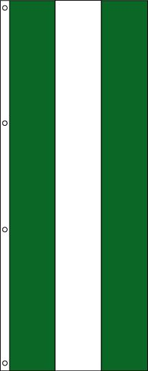 Tall Green, White and Green Attention Flag – 3×8 ft