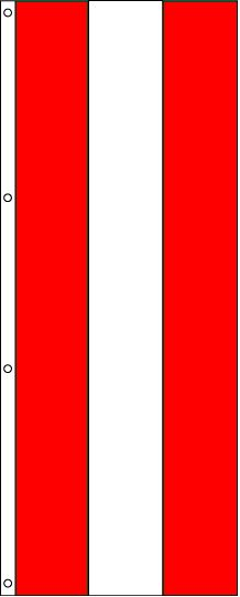 Tall Red, White and Red Attention Flag – 3×8 ft