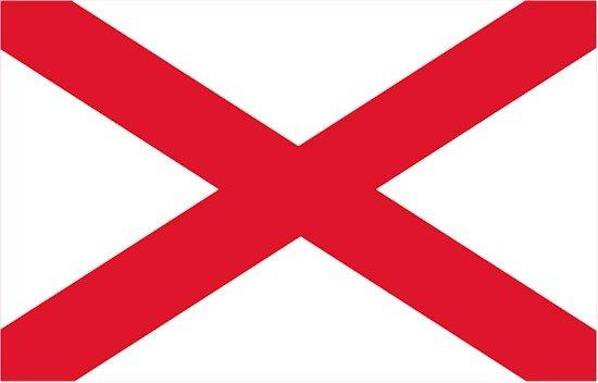 Alabama Rayon Stick Flag