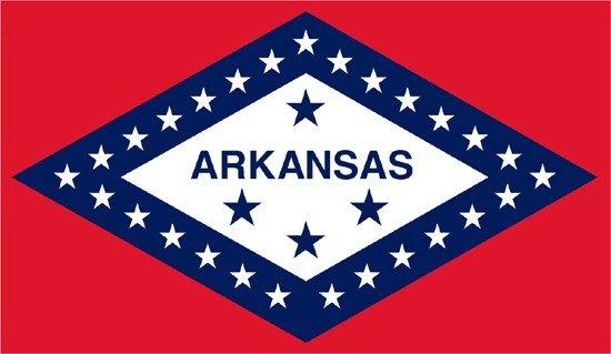 Arkansas Rayon Stick Flag