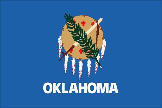 Oklahoma Nylon Flag