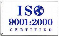 ISO 9001-2000 Certified Flag