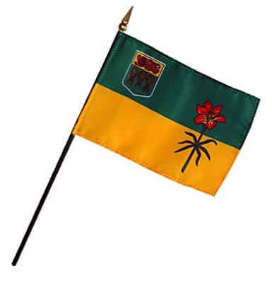 Saskatchewan Rayon Stick Flag