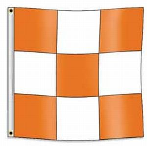 Airfield Vehicle Safety Nylon Flag on Pole