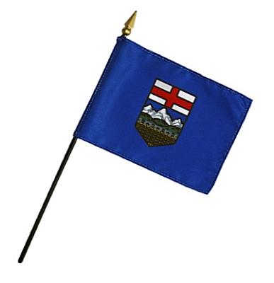 Alberta Rayon Stick Flag