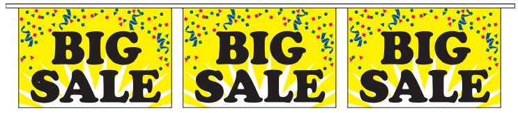 Big Sale Panel Pennants Streamer