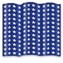 Blue Plastic Bunting with Stars