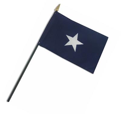 Bonnie Blue Rayon Stick Flag