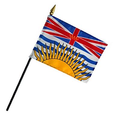 British Columbia Rayon Stick Flag