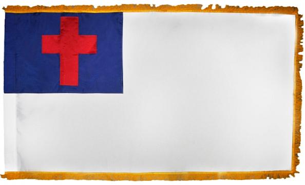 Christian Fringed Indoor Flag