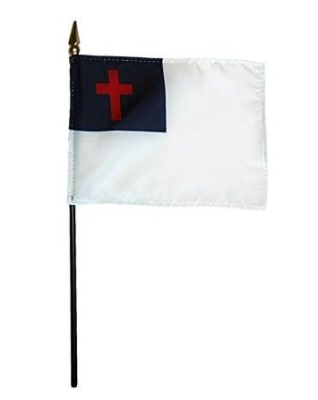 Christian Rayon Stick Flag