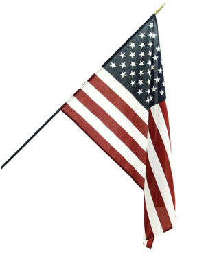 US Rayon Stick Flag – 12×18 in