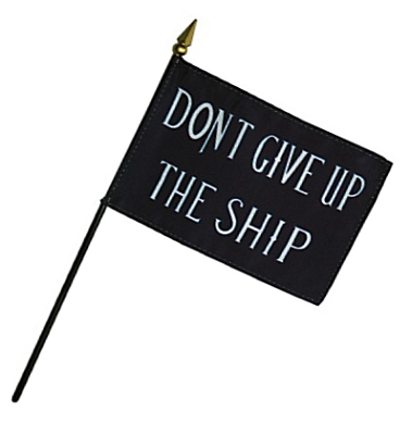 Commodore Perry Rayon Stick Flag