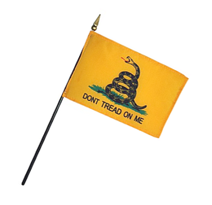 Gadsden Rayon Stick Flag