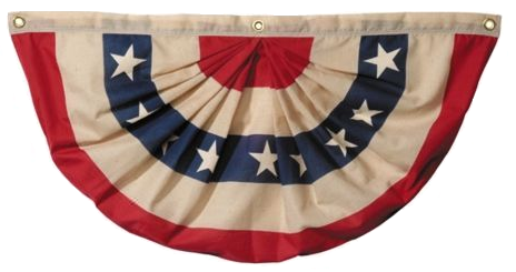 Heritage Cotton Pleated Fan with Stars