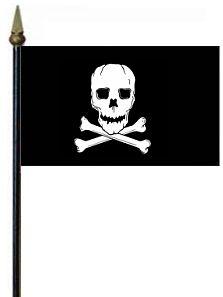 Jolly Roger Rayon Stick Flag