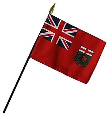 Manitoba Rayon Stick Flag