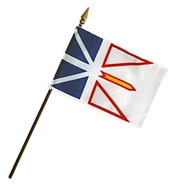 Newfoundland Rayon Stick Flag