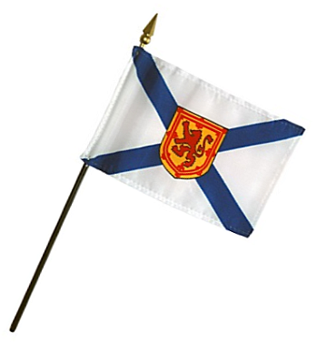 Nova Scotia Rayon Stick Flag