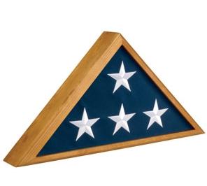Oak Wood Flag Case – Regular