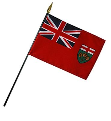 Ontario Rayon Stick Flag