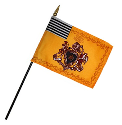 Philadelphia Light Horse Rayon Stick Flag