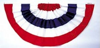Cotton Pleated Fan with Stripes Only