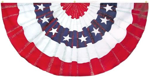 Poly-Cotton Illusion Fan with Stars