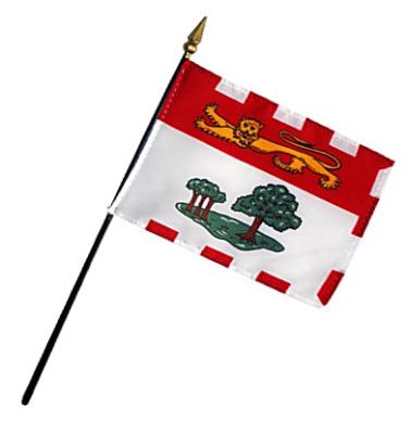 Prince Edward Island Rayon Stick Flag