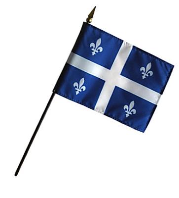 Quebec Rayon Stick Flag