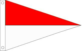 Red and White Pennant