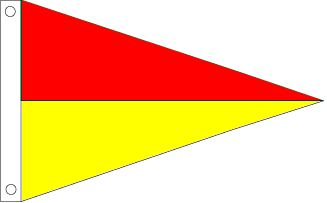 Red and Yellow Pennant
