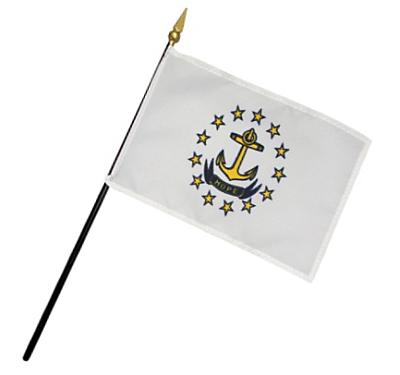 Rhode Island Regiment Rayon Stick Flag