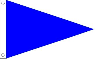 Solid Blue Pennant