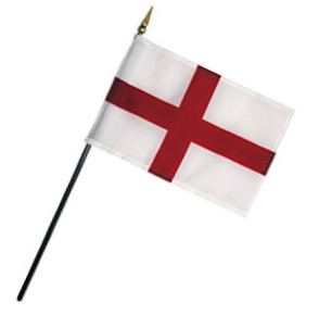 Saint George Cross Rayon Stick Flag