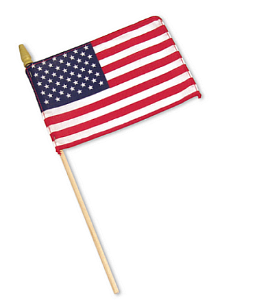 US Cotton Stick Flag – 12×18 in