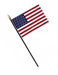 US Cotton Stick Flag – 4×6 in