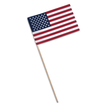 US Poly-Cotton Stick Flag – 12×18 in