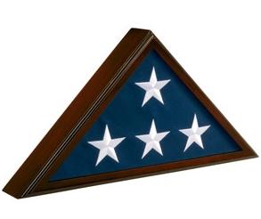 Walnut Wood Flag Case – Regular