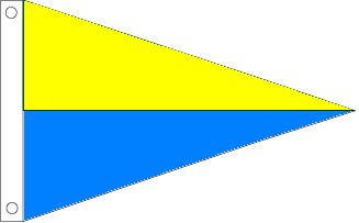 Yellow and Blue Pennant